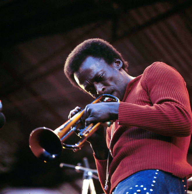 American jazz trumpeter and composer Miles Davis