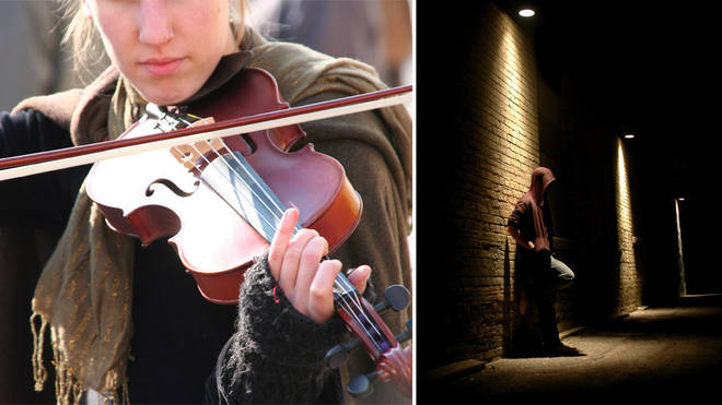Viola player uses instrument to disrupt criminal activity