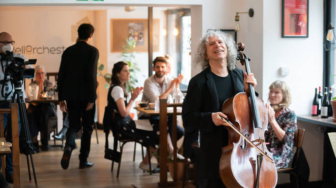 Steven Isserlis performs at Fidelio Unbound in London.
