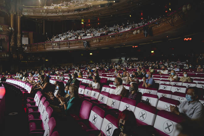 Audience members had to wear masks and sit at a social distance
