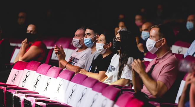 Andrew Lloyd Webber's London Palladium reopens for pilot performance