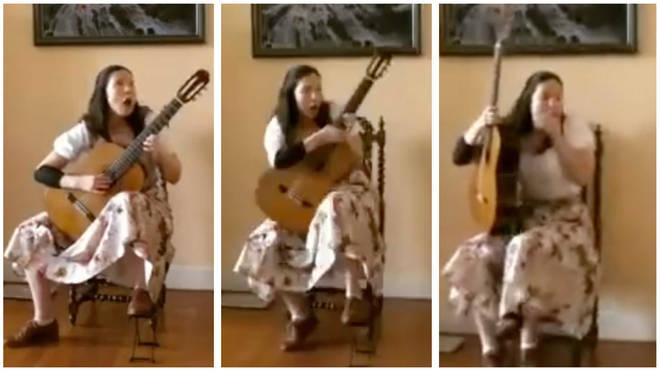 Chandelier crashes to floor during recital