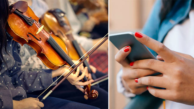 One in five teenagers would go to an orchestral concert if they could use their mobile phone