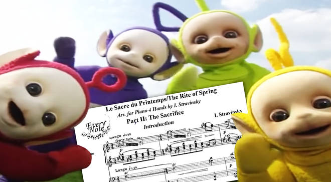Someone synced the Teletubbies with Stravinsky's 'Rite of Spring'