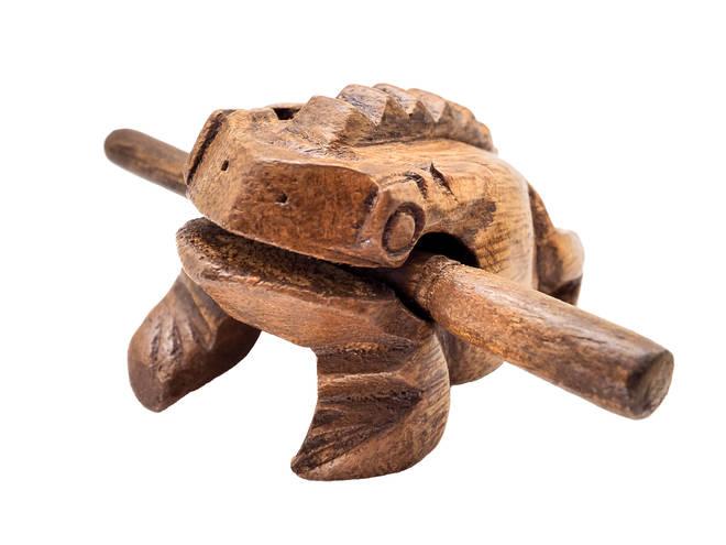 Wooden frog instrument