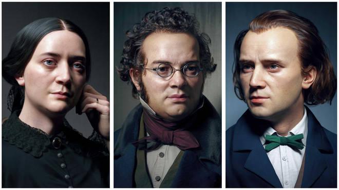 Clara Schumann, Franz Schubert and Johannes Brahms