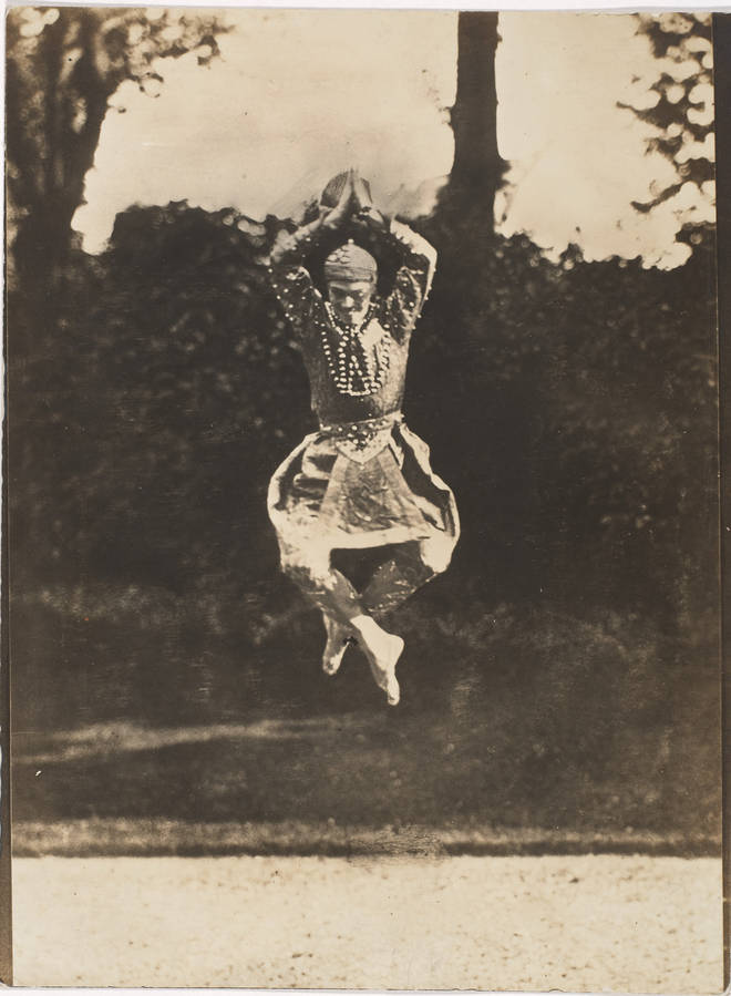 Vaslav Nijinsky in the Ballet Les Orientales Artist: Druet, Eugène (1868-1917)
