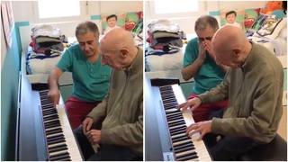 Antonio Cadenas plays piano