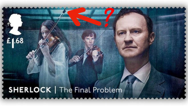 Sherlock violin stamp