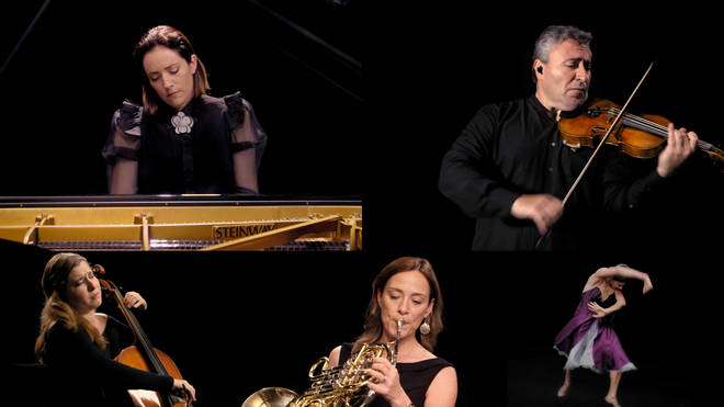 The Impossible Orchestra – Alondra de la Parra at the piano with her musical friends