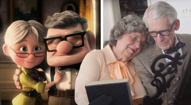 Grandparents perform 'Up' theme on a piano for their 60th anniversary
