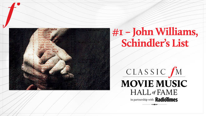 John Williams' 'Schindler's List' voted No. 1 in the Classic FM Movie Music Hall of Fame
