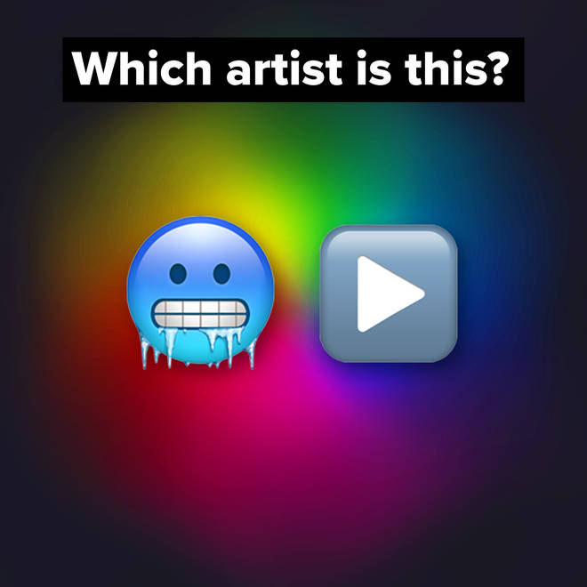 Tell us which pop music artist or group is represented by the emojis