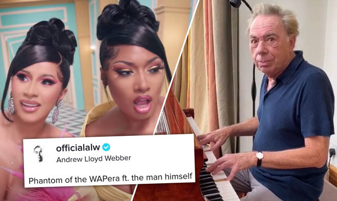 Andrew Lloyd Webber shares Phantom of the Opera mashup with Cardi B's hit 'WAP'.