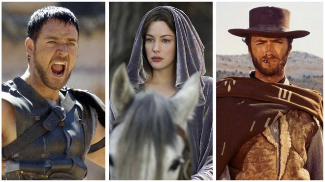 Gladiator, The Lord of the Rings and The Good, the Bad and the Ugly