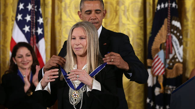 Barbra Streisand receives the Presidential Medal of Freedom
