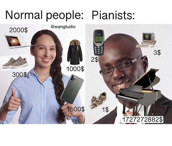 Normal people versus pianists