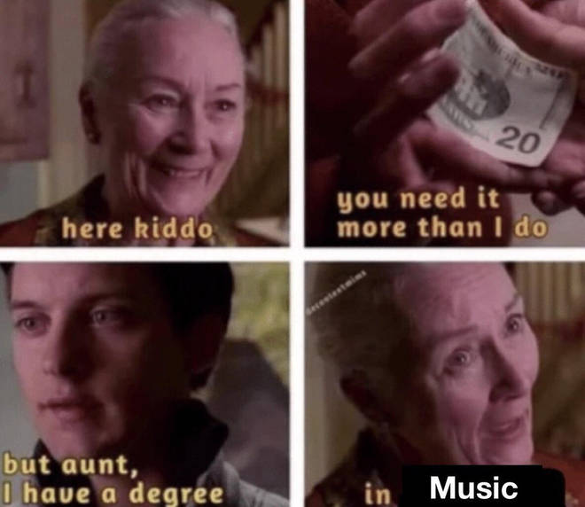 Music degrees meme