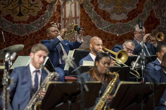 Wynton Marsalis and The Jazz at the Lincoln Center Orchestra, in concert in February 2020