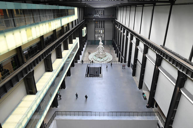 An exhibition in the Turbine Hall at the Tate Modern in London, March 2020
