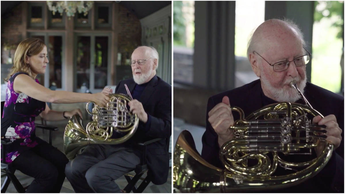 John Williams was challenged to play the French horn, and the Force wasn't strong with this one