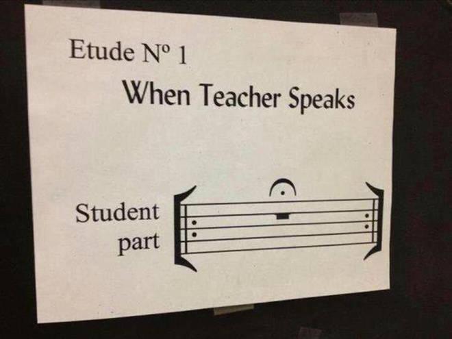 When teacher speaks