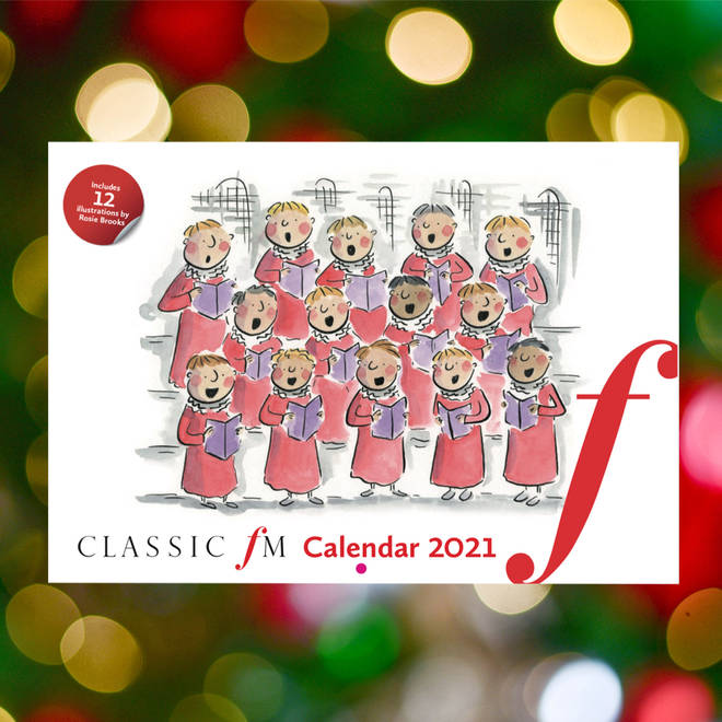 Classic FM 2021 wall calendar, featuring illustrations by Rosie Brooks.