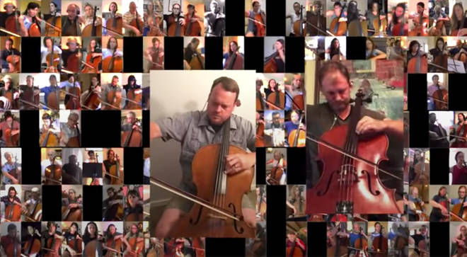 278 cellists play 'Adagio for Strings' from 29 countries