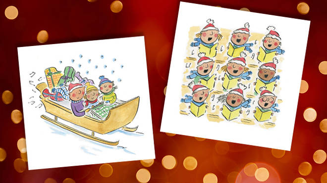 Classic FM's charity Christmas cards – 'Sleigh Ride' pack.