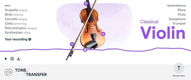 Transfer your humming into a beautiful violin solo