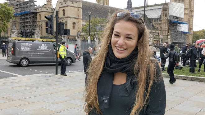 Violinist Nicola Benedetti attended the protest