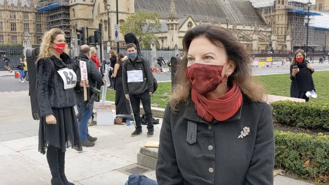 Violinist Tasmin Little attends 'Let Music Live' protest