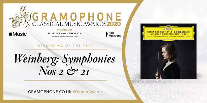 Gramophone Classical Music Awards 2020: Recording of the Year: Weinberg Symphonies – CBSO/Mirga Gražinytė-Tyla