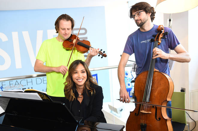 Myleene Klass with Simon and Thomas Hewitt Jones