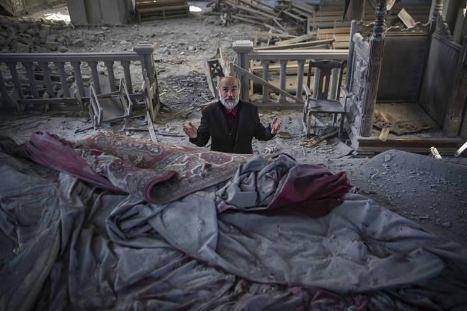 Priest mourns devastated cathedral