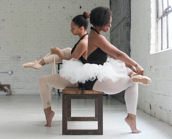 Alex's full photo of Desire'e and dance instructor Tasha Williams