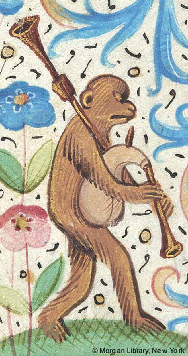 Monkey playing bagpipes