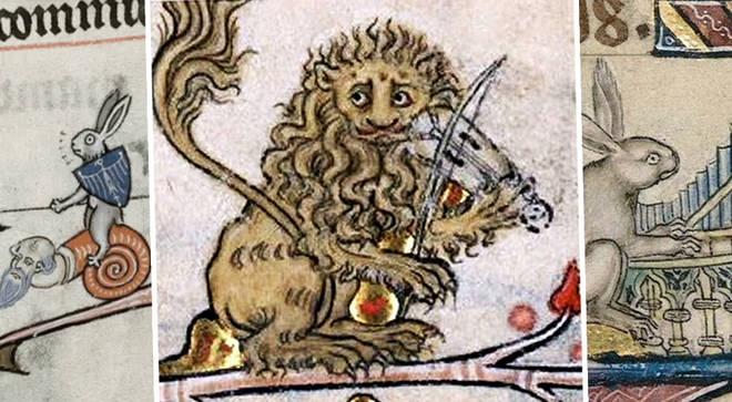 Medieval illustrations of psychedelic animals playing music raise many questions