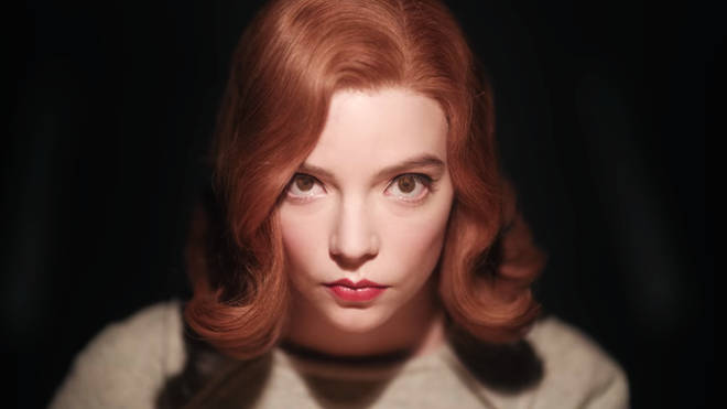 The Queen's Gambit on Netflix, starring Anya Taylor-Joy as Beth Harmon