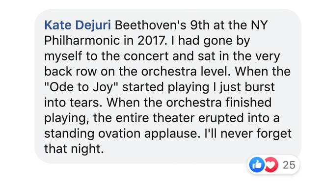 A moment during Beethoven's Ninth