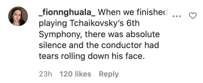There was absolute silence and the conductor had tears rolling down his face