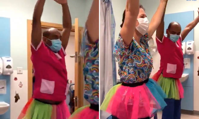Ballet-obsessed 5-year-old girl left beaming when hospital staff unexpectedly performed Swan Lake ballet