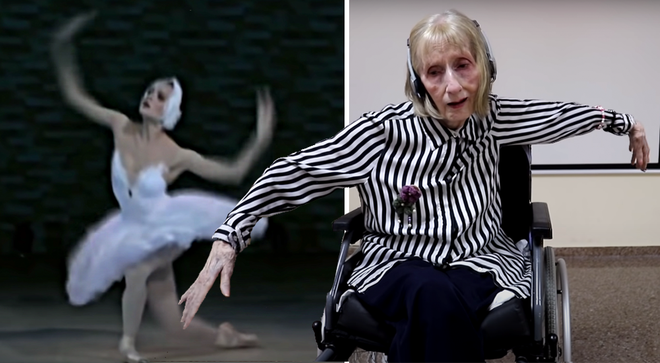 Ballerina with Alzheimer's listens to Swan Lake, all comes back to her