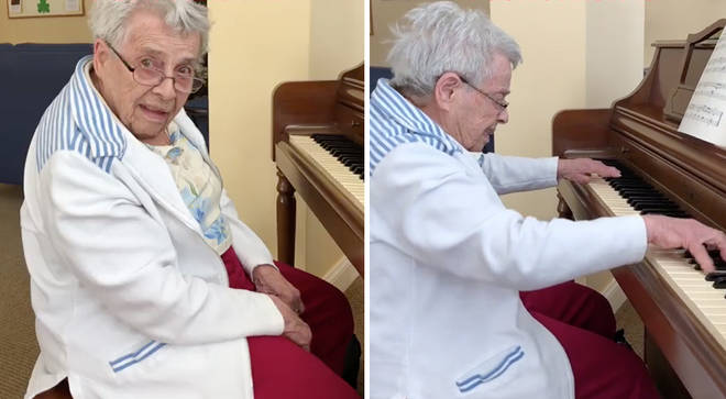 92-year-old with dementia remembers how to play piano