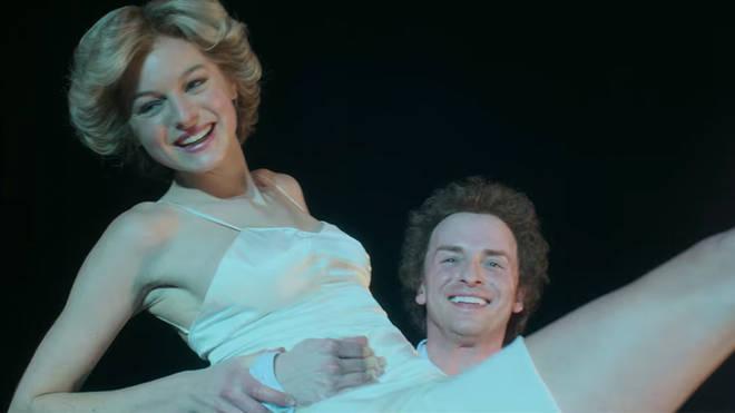 Emma Corrin and Jay Webb reenact Diana and Sleep's dance scene