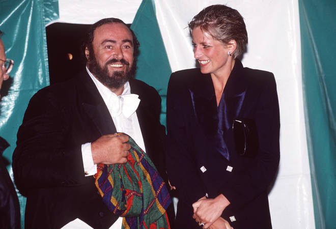 Pavarotti and Lady Diana were friends