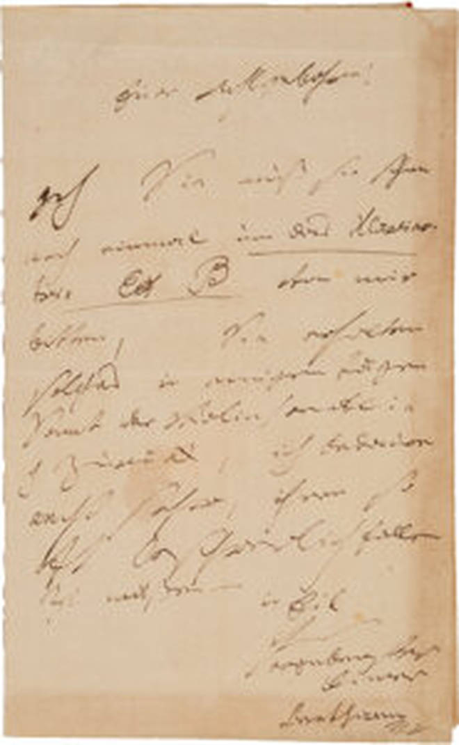 Beethoven letter to Mr von Bauman
