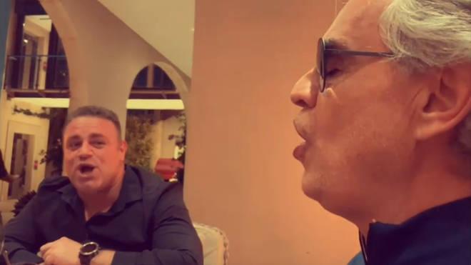 Andrea Bocelli and Joseph Calleja