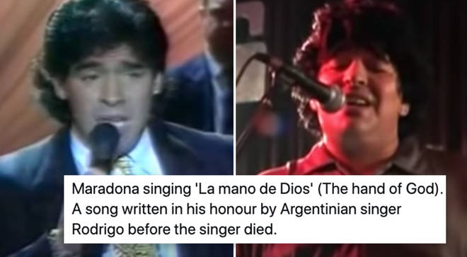 Diego Maradona could sing.