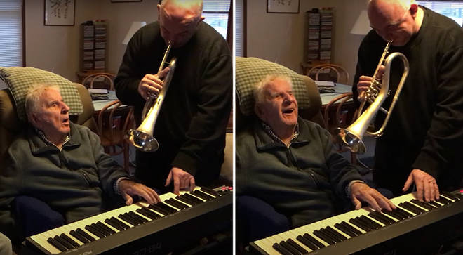 Jazz icons Julian Lee and James Morrison play piano and flugelhorn